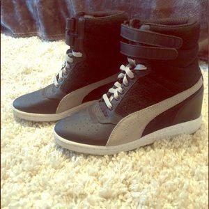 Puma High top heeled sneaker